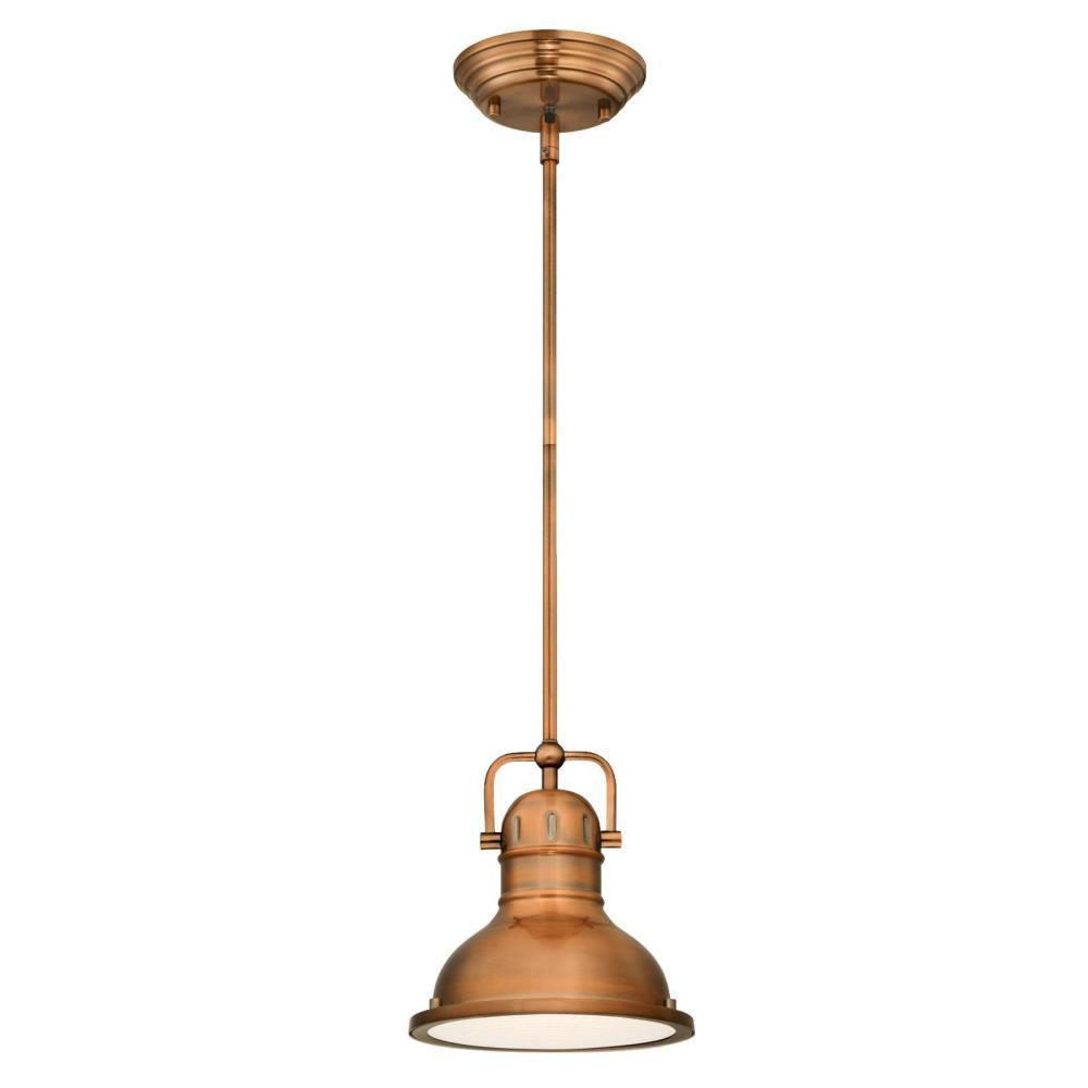 Merveilleux Westinghouse Boswell 1 Light Washed Copper Pendant With LED Bulb