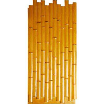 5/8 in. x 24-3/8 in. x 53-7/8 in. Sundried Urethane Bamboo Slat Wall Panel