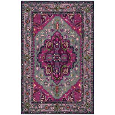 Bellagio Gray/Pink 4 ft. x 6 ft. Area Rug