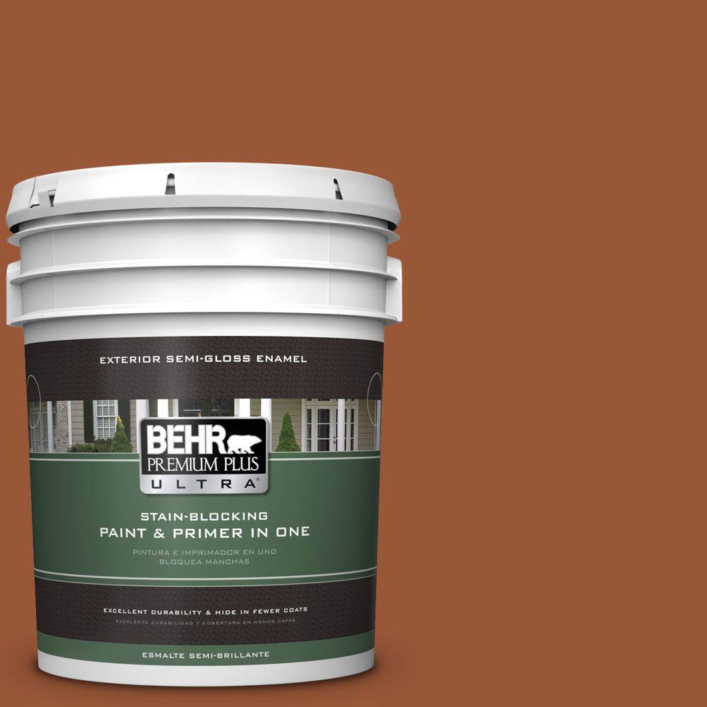5-gal. #230D-7 Cinnamon Brandy Semi-Gloss Enamel Exterior Paint