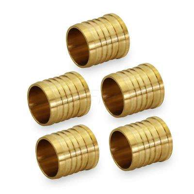 1/2 in. Brass PEX Barb Plug End Cap Pipe Fitting (5-Pack)