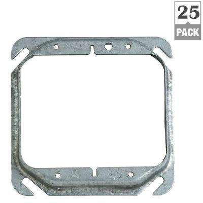2-Gang 4 in. Square Metal Electrical Box Cover - 2 Devices (Case of 25)