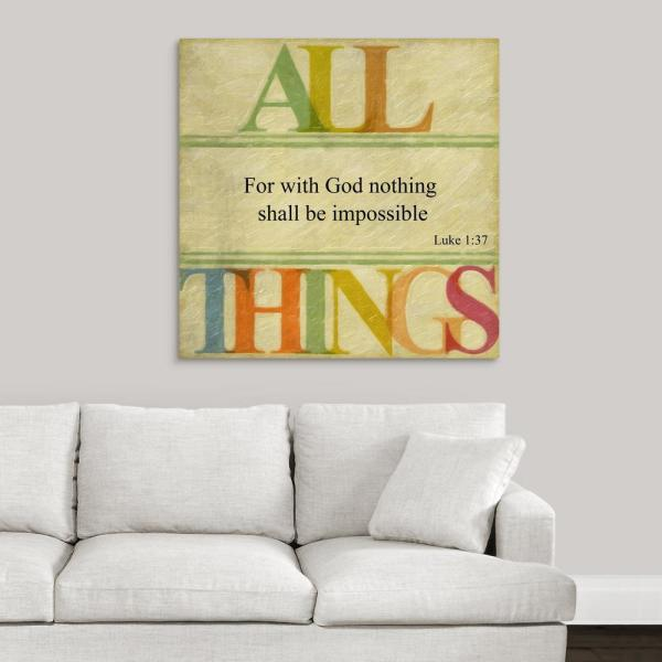 GreatBigCanvas ''All Things'' by Taylor Greene Canvas Wall Art 2453854_24_36x36