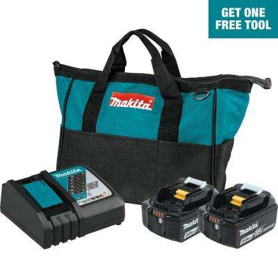 18-Volt LXT Lithium-Ion Battery and Rapid Optimum Charger Starter Pack (5.0Ah)