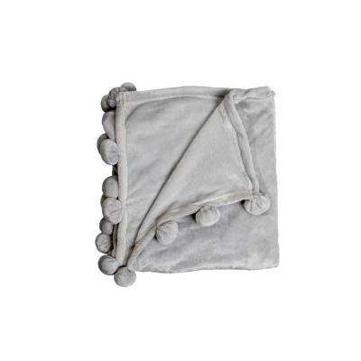 Zadie Grey Pom Pom Throw