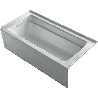 Archer 5.5 ft. BubbleMassage Walk-In Whirlpool and Air Bath Tub with Bask Heated Surface in Ice Grey
