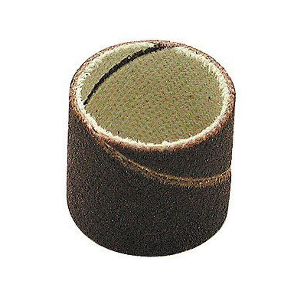 1/2 in. Diameter x 1/2 in. 80 Grit Sanding Bands (100-Pack)