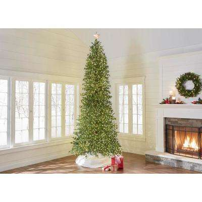 12 Ft Pre Lit Led Elegant Fir Artificial Christmas Tree With 4000 Warm White Micro Dot Lights