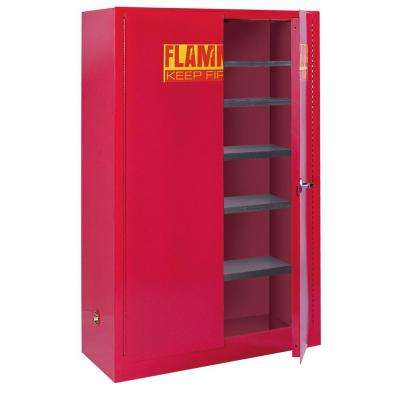 65 in. H x 43 in. W x 18 in. D Steel Freestanding Paint and Ink Storage Safety Cabinet in Red