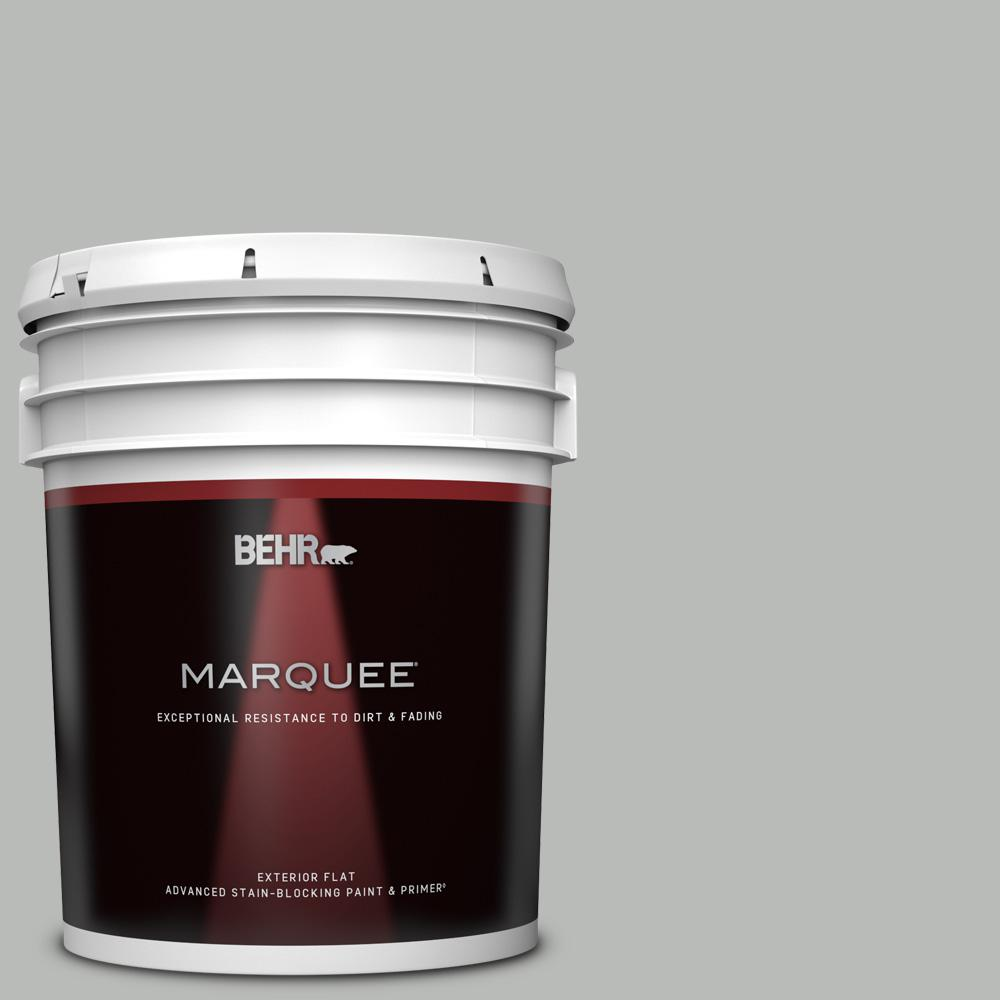 Behr Marquee 5 Gal T18 19 Quiet Time Flat Exterior Paint And Primer In One 445005 The Home Depot