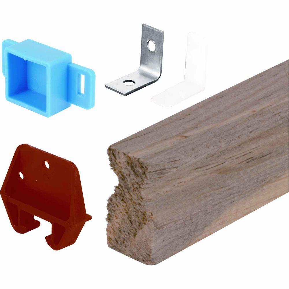 24 in. Wooden Drawer Track Kit