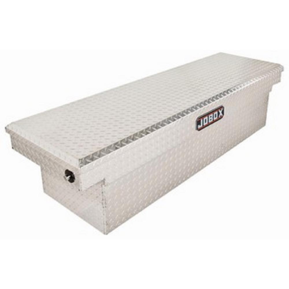 JOBOX 71 in. Aluminum Single Lid Deep Full Size Crossover Tool Box in Bright