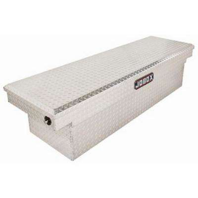 JOBOX 71 in. Aluminum Single Lid Deep Full Size Crossover Tool Box in Bright