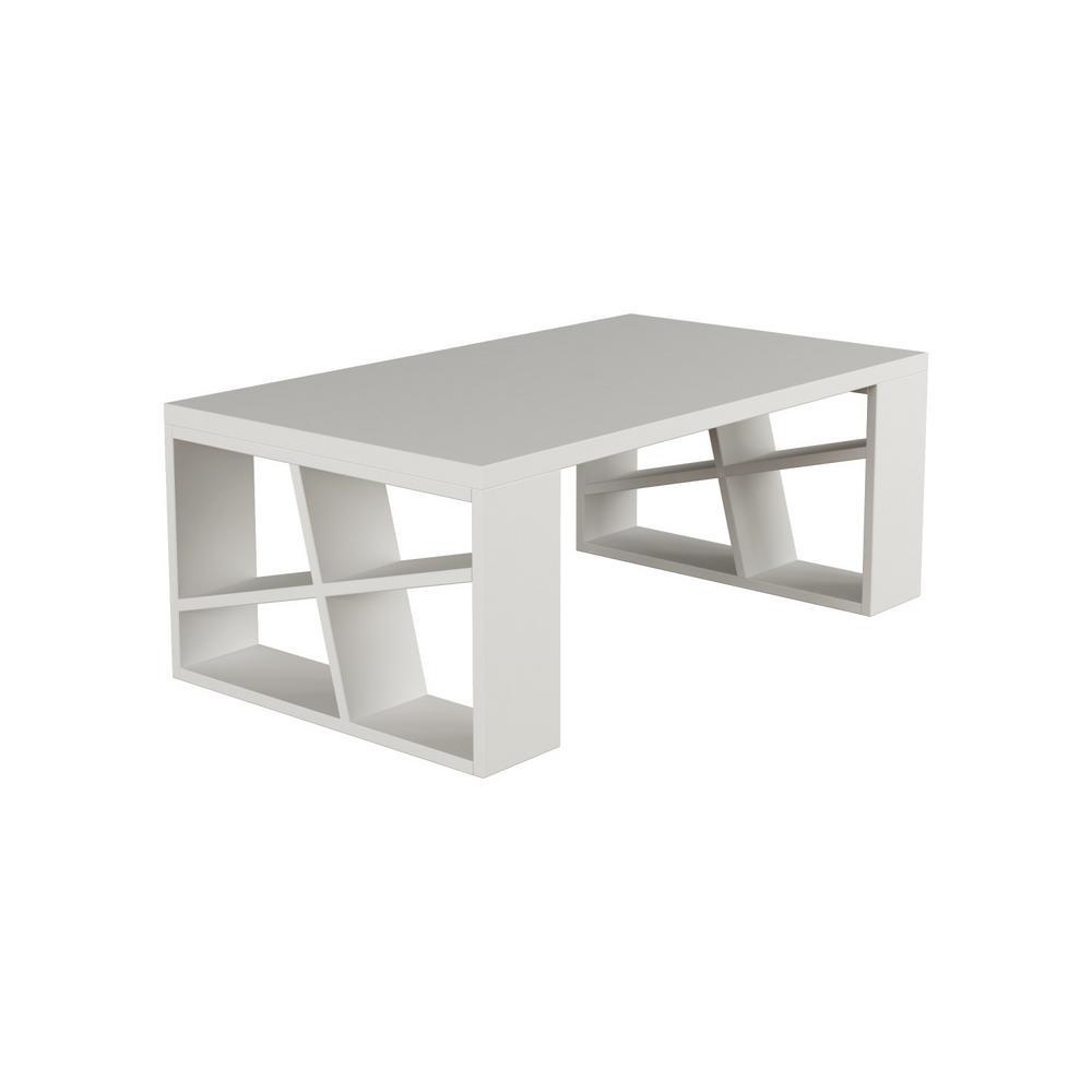 Ada Home Decor Brian White Modern Coffee Table-DCRC2021