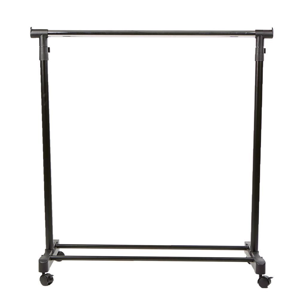 33.75 in. x 69.5 in. Silver Metal Garment Rack