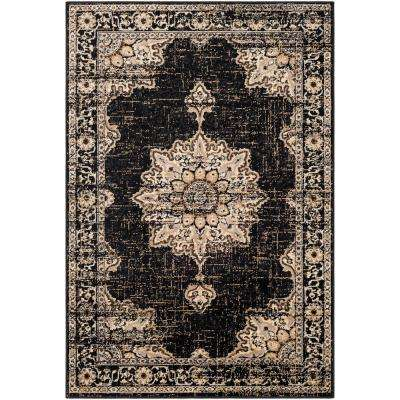 Sora Black 8 ft. 10 in. x 12 ft. 9 in. Oriental Area Rug