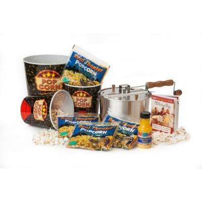 10-Piece Aluminum Popcorn Popper Set