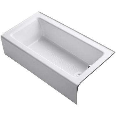 Bellwether 60 in. x 32 in. ADA Cast Iron Alcove Bathtub with Integral Farmhouse Apron and Right-Hand Drain in White