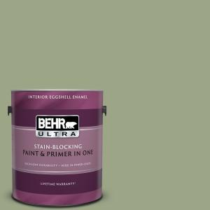 Behr Ultra 1 Gal Home Decorators Collection Hdc Fl13 8 Tangy Dill Semi Gloss Enamel Interior Paint Primer 375301 The Home Depot