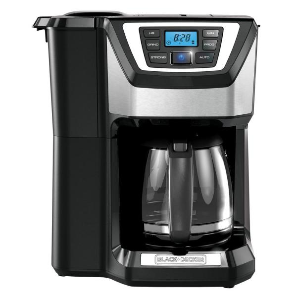 BLACK+DECKER 12-Cup Programmable Stainless Steel Drip Coffee Maker with Built-In