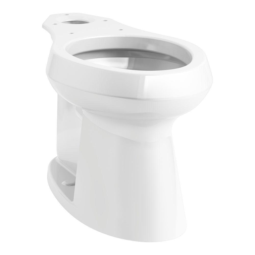 KOHLER Highline Elongated Toilet Bowl Only in White