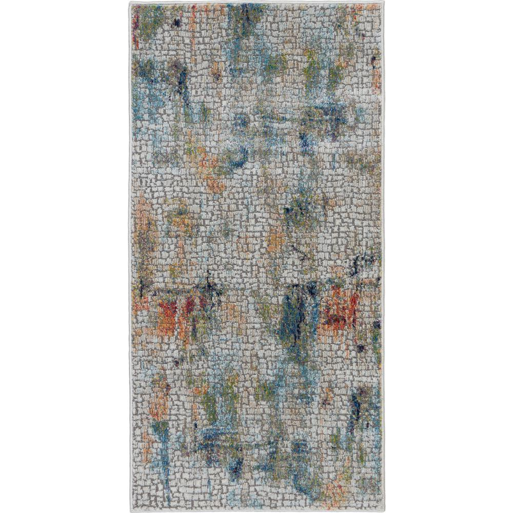 c3a14aa1 Nourison Global Vintage White Multicolor 2 ft. x 4 ft. Small Abstract Area  Rug