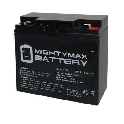 12-Volt 18 Ah F2 Terminal Rechargeable Sealed Lead Acid (SLA) Battery
