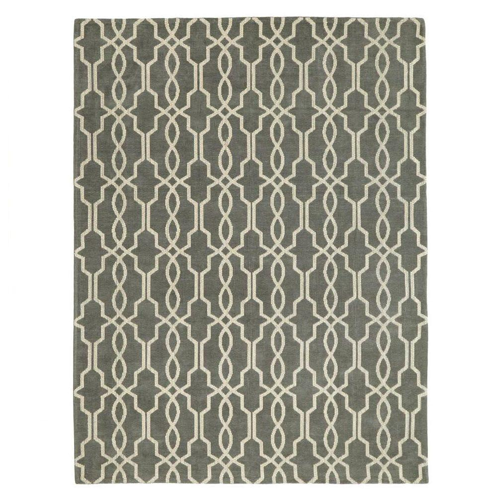 Home Decorators Collection Kingston Smoke Blue/Ivory 4 Ft