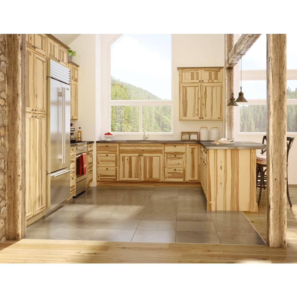 Hampton Bay 23 25 In X 34 5 In X 0 125 In Kitchen Cabinet Flush Fit End Panel In Pure Hickory 2 Pack