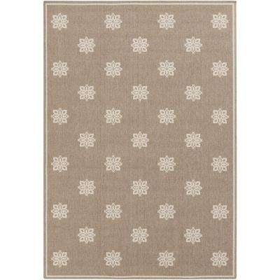 Baxter Taupe 4 ft. x 6 ft. Indoor/Outdoor Area Rug