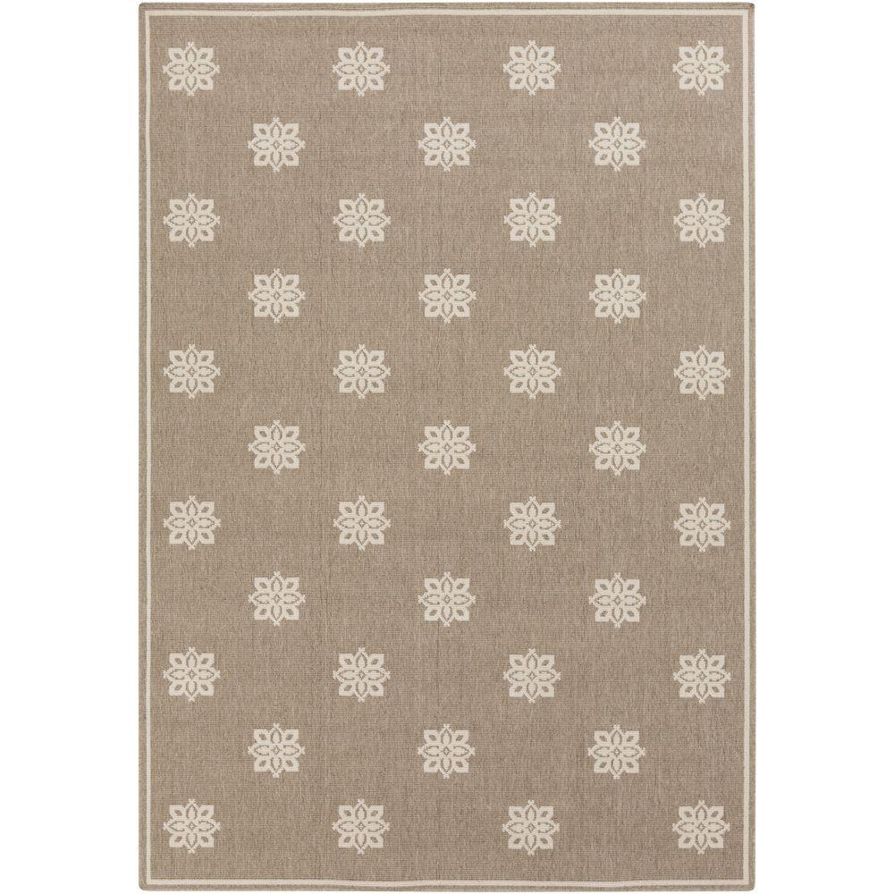 Baxter Taupe (Brown) 8 ft. 9 in. x 12 ft. 9 in. Indoor/Outdoor Area Rug