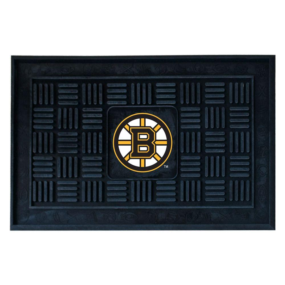 FANMATS Boston Bruins 19 in. x 30 in. Door Mat