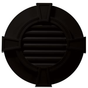 Builders edge 30 in round gable vent with keystones in for Gable decorations home depot