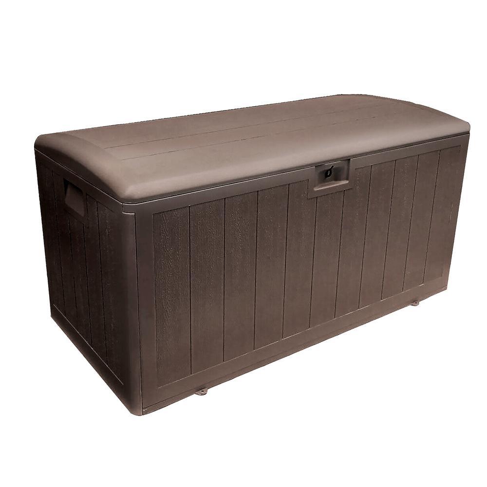 Plastic Development Group 105 Gal. Java Storage Deck Box w/ Soft-Close Lid