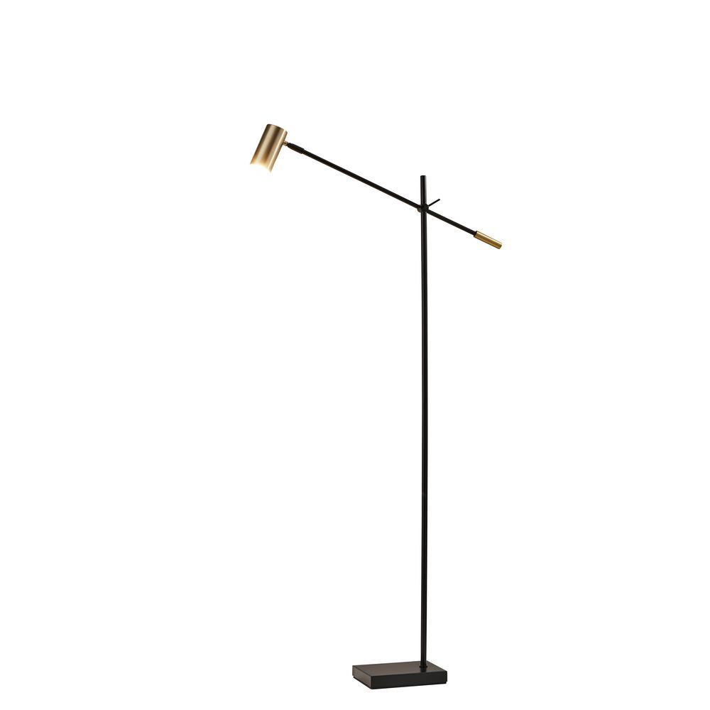 Captivating Antique Brass Collette LED Floor Lamp