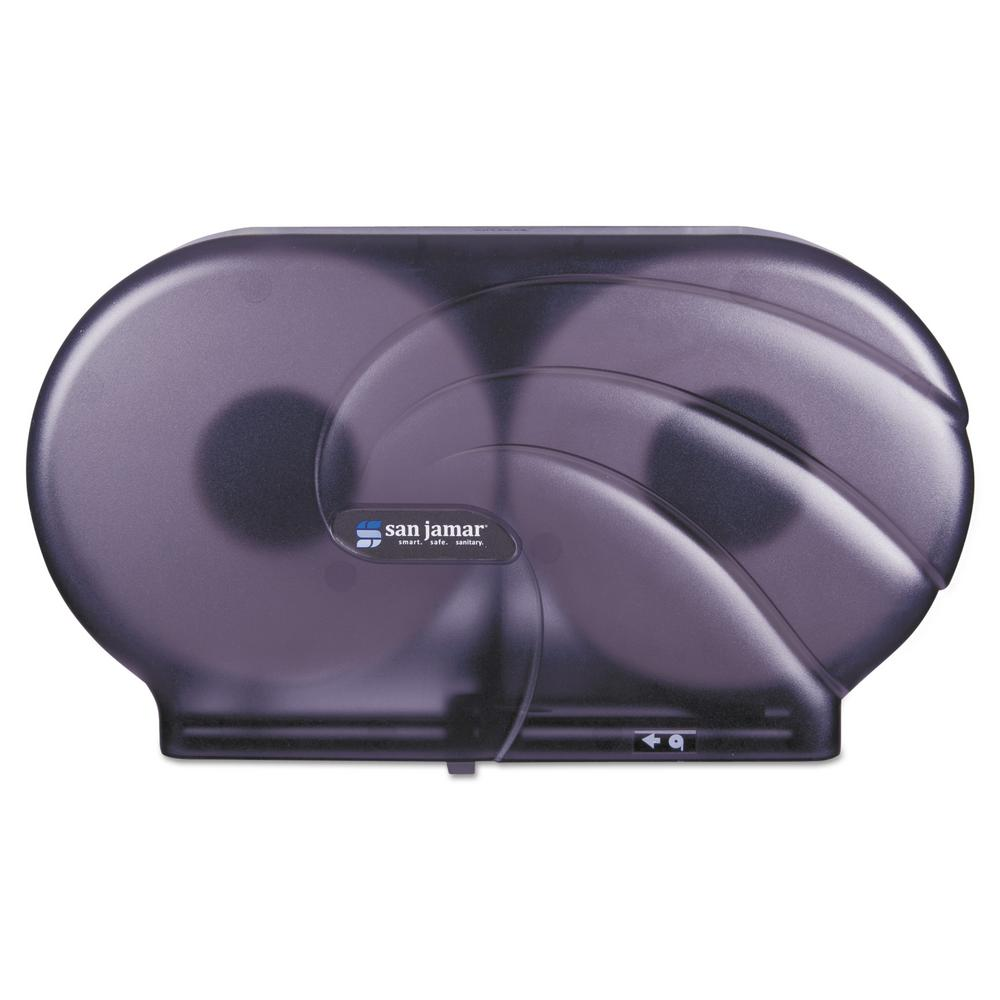 San Jamar 2-Roll Black Pearl Oceans Twin JBT Toilet Tissue Dispenser