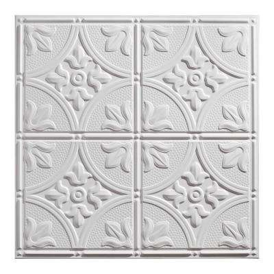 23.75in. X 23.75in. Antique Lay In Vinyl White Ceiling Panel (Case of 12)