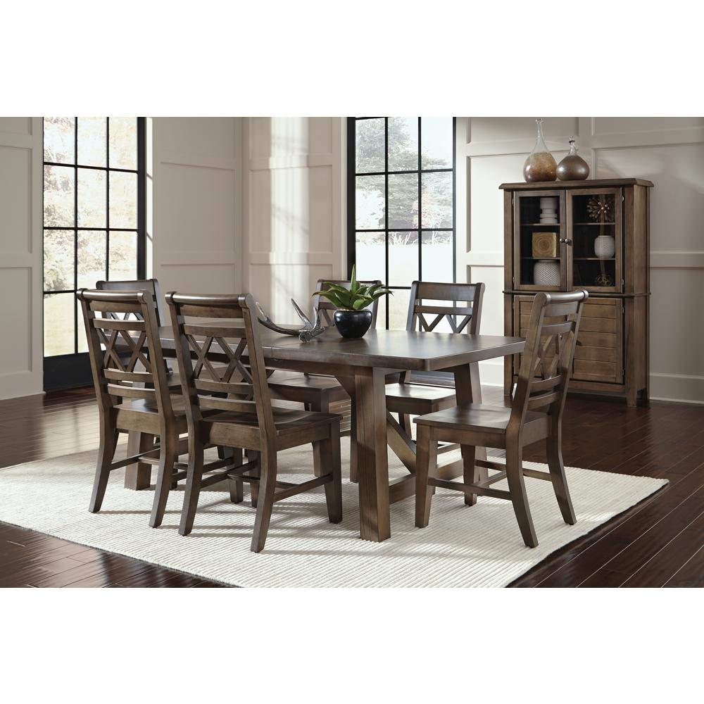 International Concepts Canyon Unfinished Wood Double X Back Dining