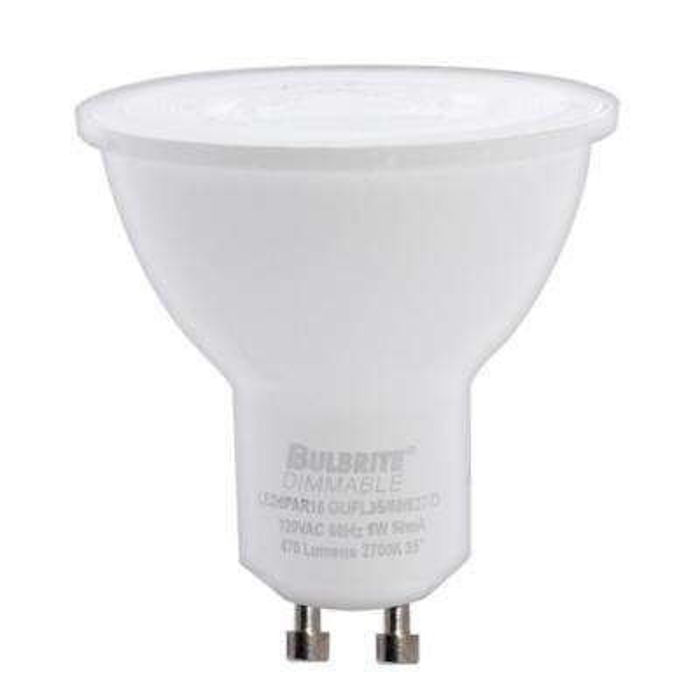 60-Watt Equivalent PAR16 Dimmable Twist and Lock Bi-Pin LED Light Bulb Soft White (2-Pack)