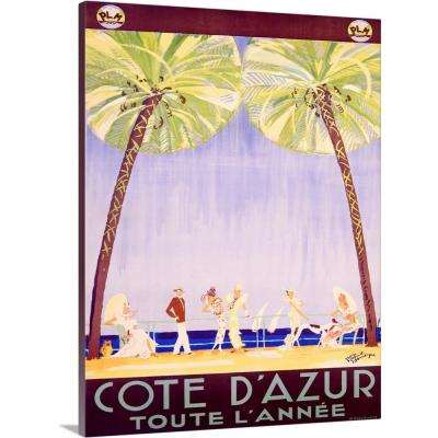 Cote d'Azur Vintage Advertising Poster by ArteHouse Canvas Wall Art