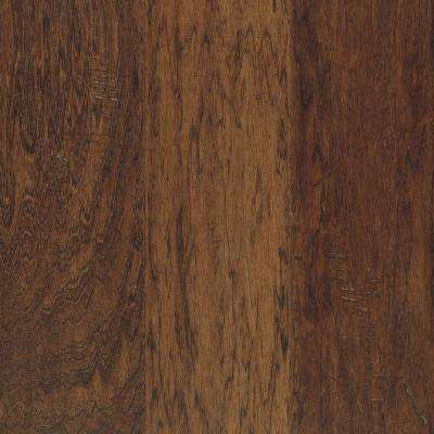 Take Home Sample - Steadman Coffee Hickory Engineered Scraped Hardwood Flooring - 5 in. x 7 in.