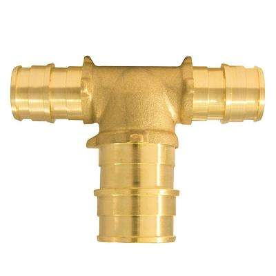1/2 in. x 1/2 in. x 3/4 in. Brass PEX-A Expansion Barb Reducing Tee