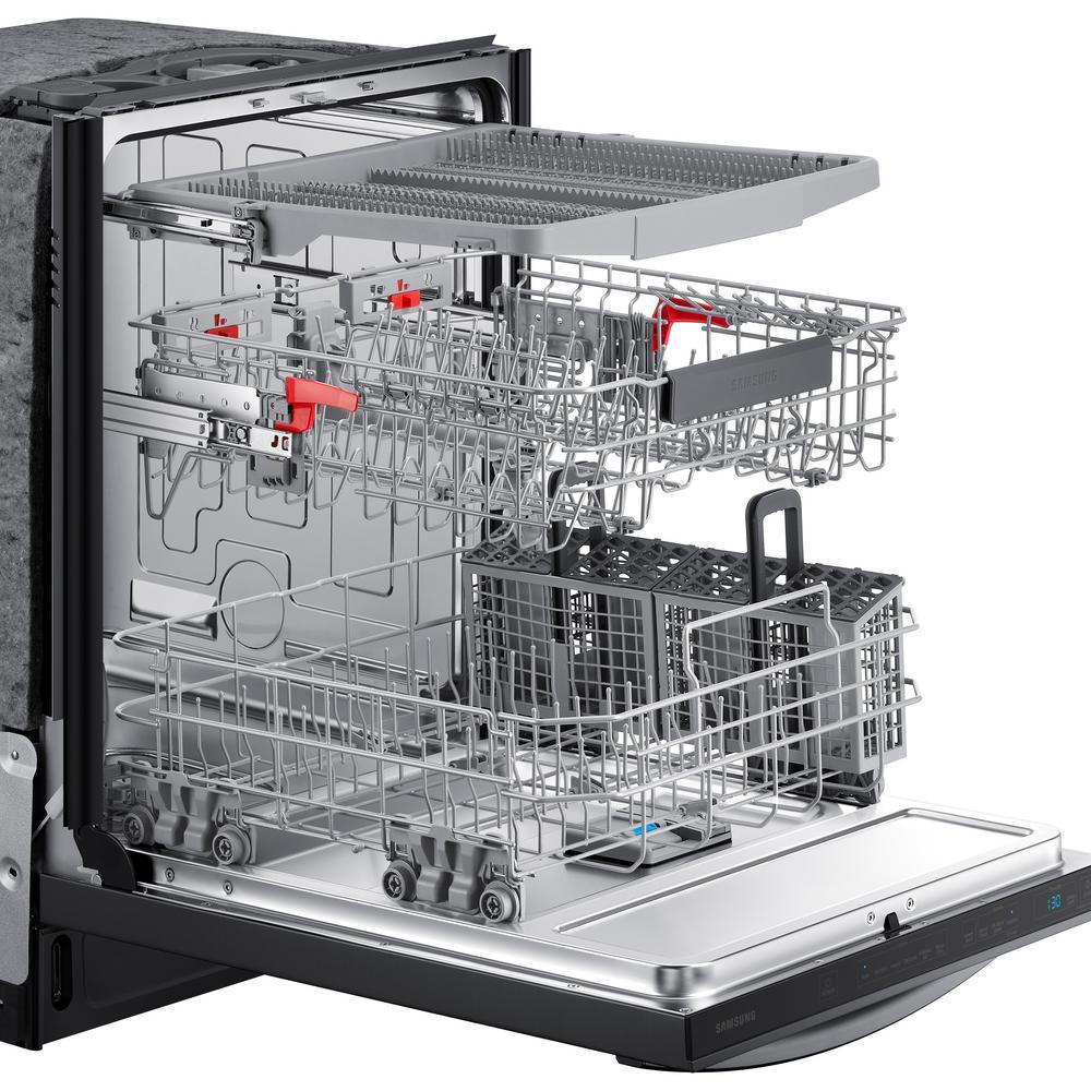 Samsung DW80R7061UG 42 dBA Black Stainless Top-Control Dishwasher