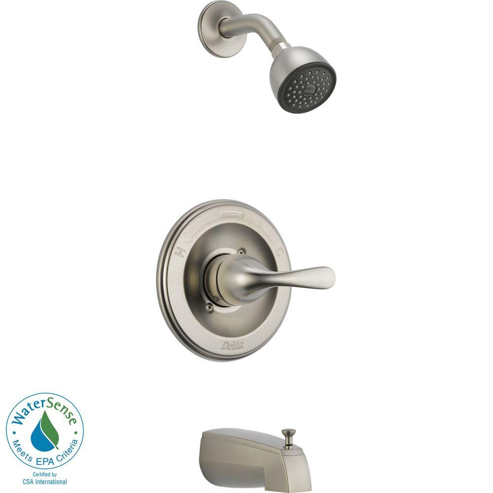 Classic 1-Handle Tub and Shower Faucet Trim Kit in Stainless (Valve