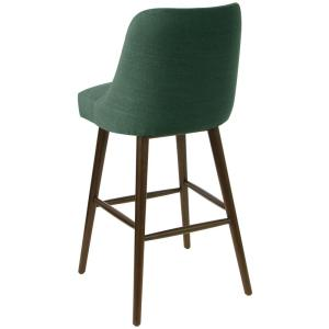 Awesome Skyline Furniture Linen Conifer Green Rounded Back Bar Stool Unemploymentrelief Wooden Chair Designs For Living Room Unemploymentrelieforg