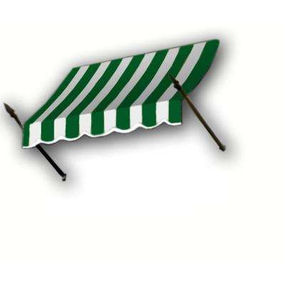 8 ft. New Orleans Awning (31 in. H x 16 in. D) in Forest/White Stripe