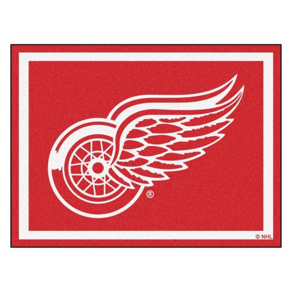 NHL Detroit Red Wings Red 8 ft. x 10 ft. Indoor Area Rug