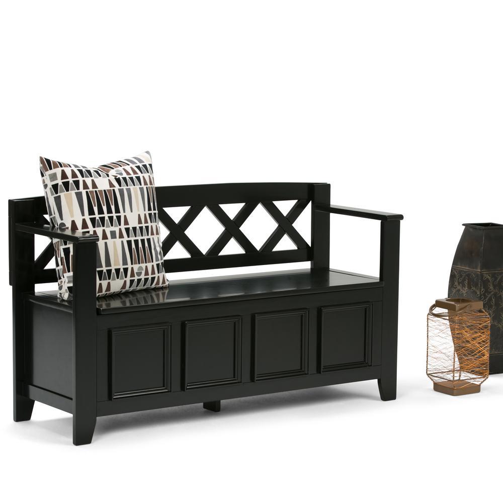 Amherst Black Storage  Bench