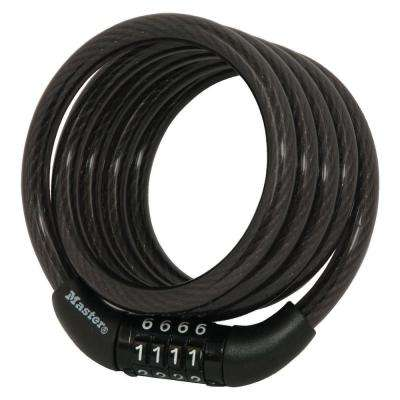 4 ft. Preset Combination Self Coiling Cable Lock