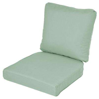 Lemon Grove Sunbrella Spectrum Mist Replacement 2 Piece Outdoor Dining Chair Cushion